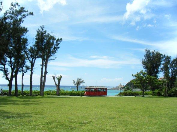 ブセナビーチとバス