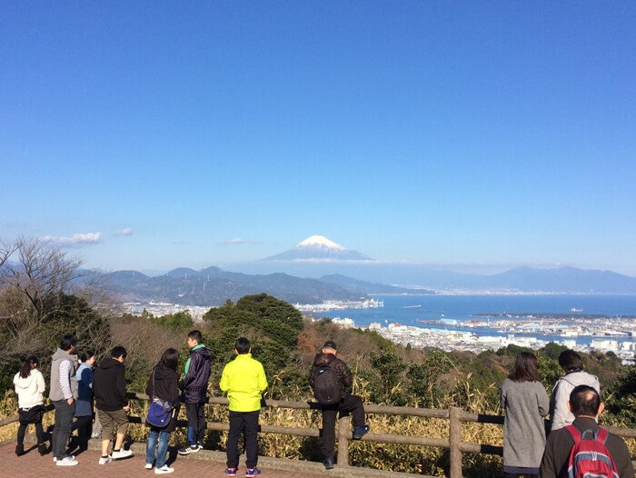 日本平から見る富士山